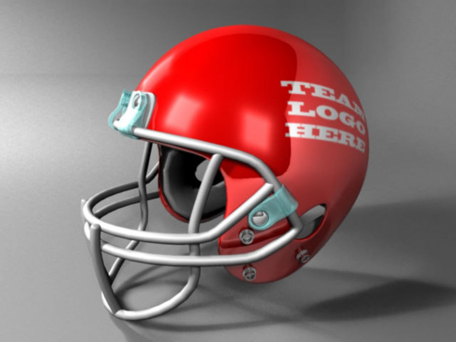Football Helmet royalty-free 3d model - Preview no. 5