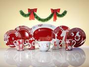 Czerwone Boże Narodzenie 3d model