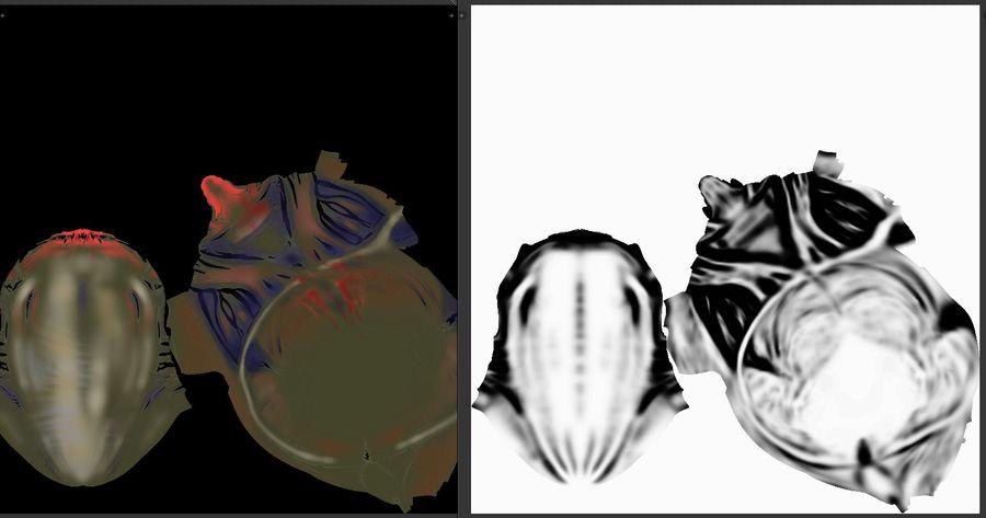 голова инопланетянина royalty-free 3d model - Preview no. 4