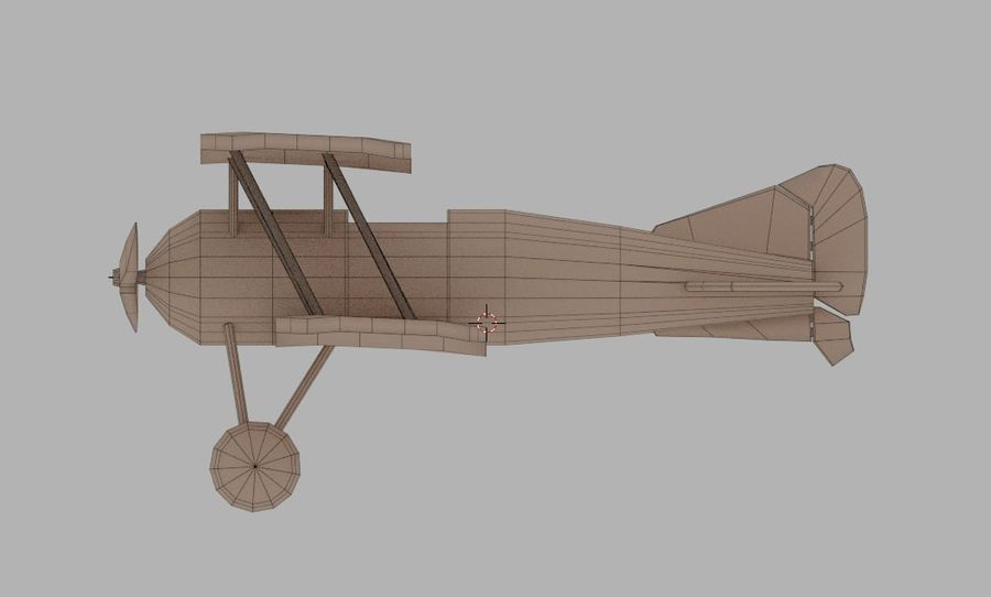 Toy plane royalty-free 3d model - Preview no. 5