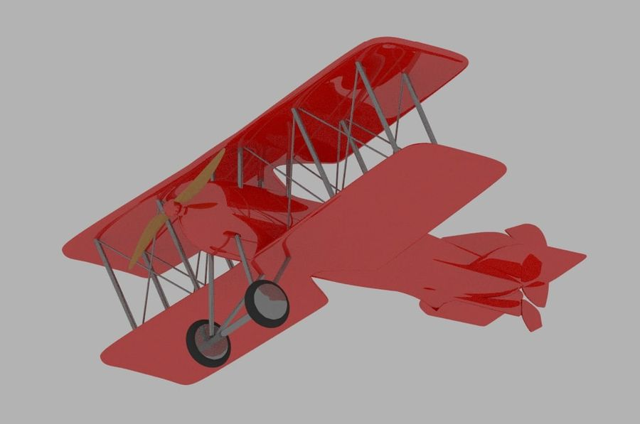 Toy plane royalty-free 3d model - Preview no. 3