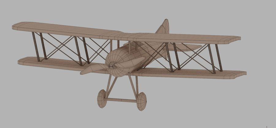 Toy plane royalty-free 3d model - Preview no. 6