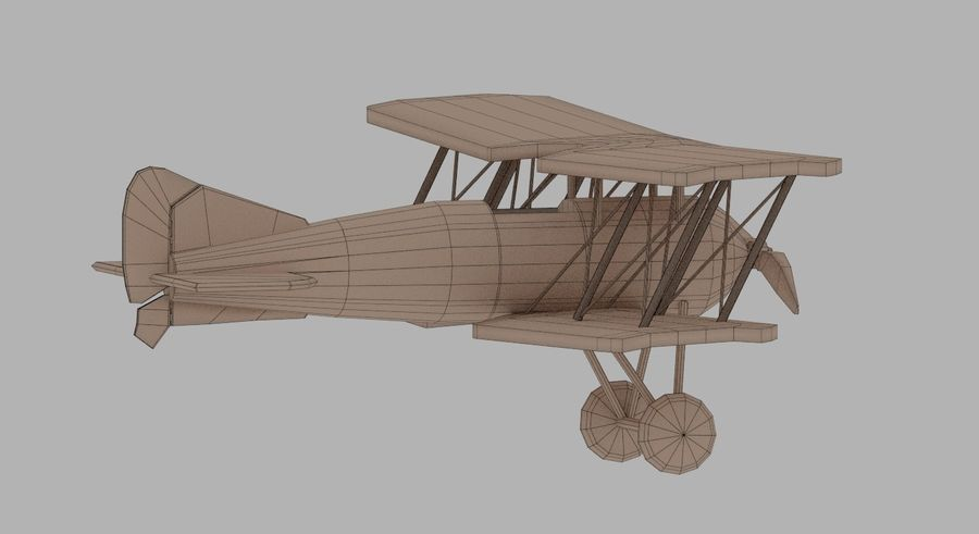Toy plane royalty-free 3d model - Preview no. 7