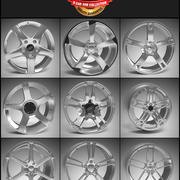9 Alloy Wheel Pack 3d model