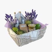 Provence decor basket 3d model