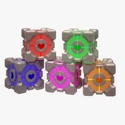 Portal Cube 02 modelo 3d