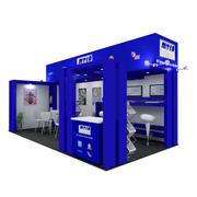 MTCA展台:展览摊位 3d model