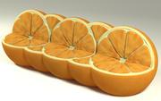 자연 오렌지 소파 3d model