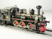 European Steam Locomotive Engine Train 3d model