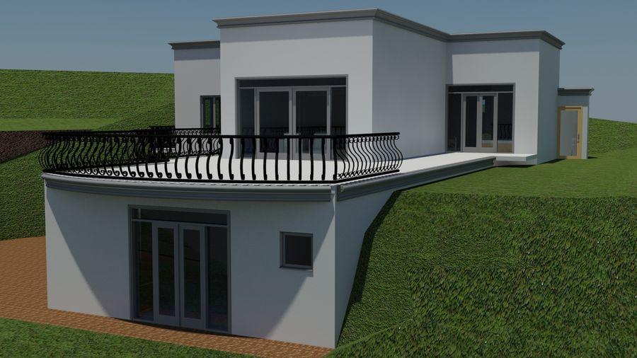 Architektura Dom Wakacyjny royalty-free 3d model - Preview no. 6