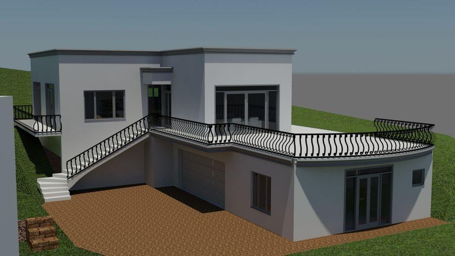 Architektura Dom Wakacyjny royalty-free 3d model - Preview no. 5