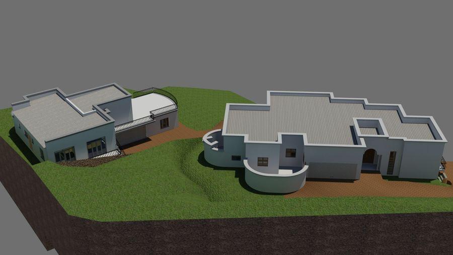 Architektura Dom Wakacyjny royalty-free 3d model - Preview no. 7