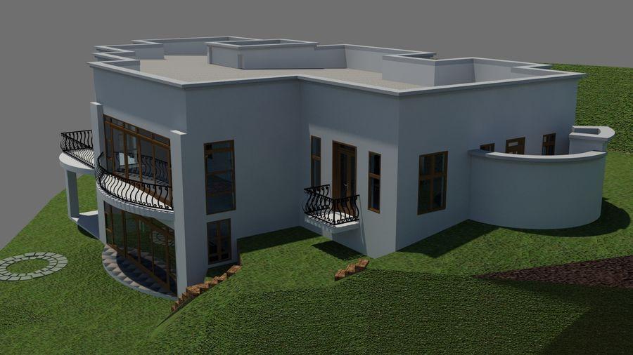Architektura Dom Wakacyjny royalty-free 3d model - Preview no. 3