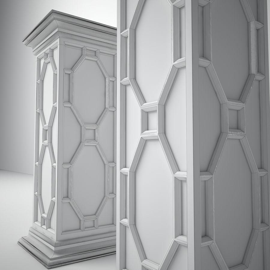 John-Richard Eglomise Pedestal royalty-free 3d model - Preview no. 3