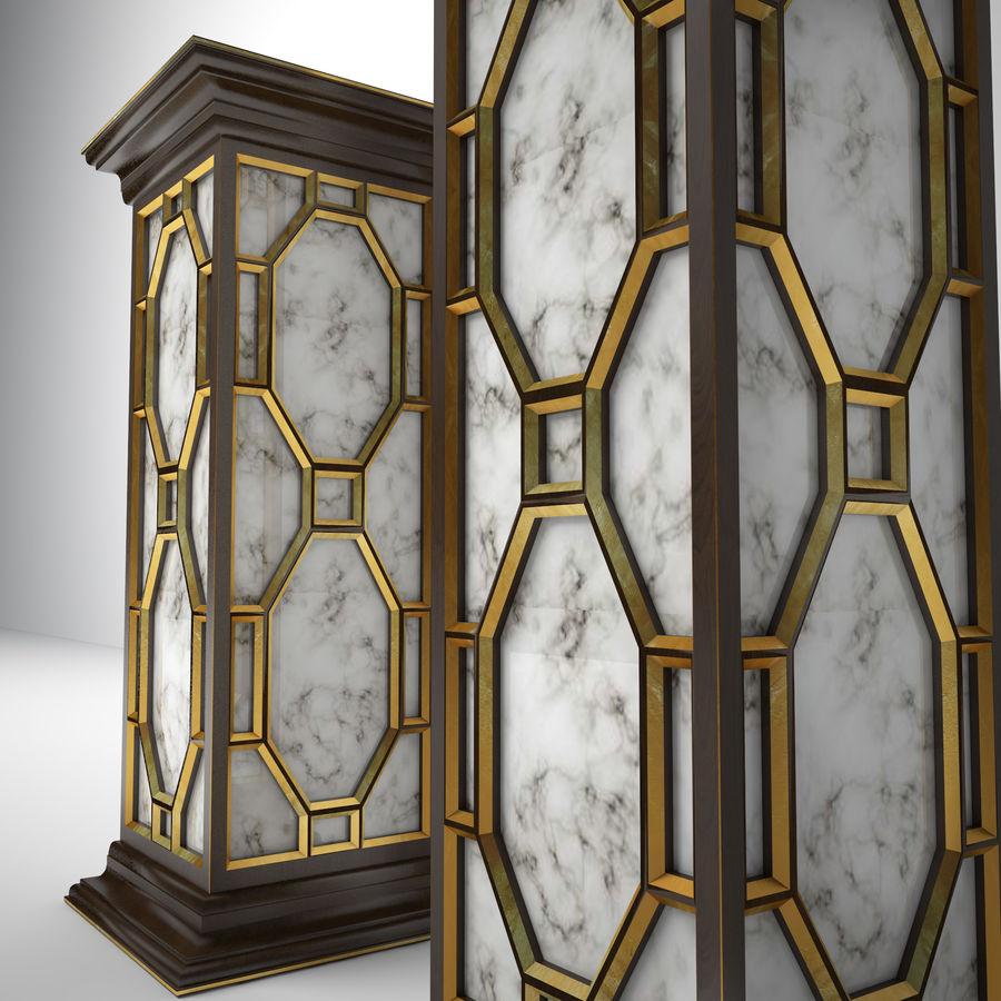 John-Richard Eglomise Pedestal royalty-free 3d model - Preview no. 2