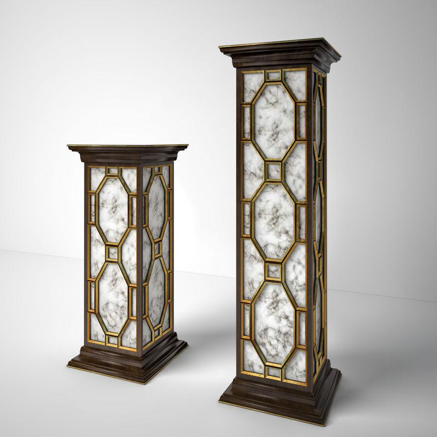 John-Richard Eglomise Pedestal royalty-free 3d model - Preview no. 1