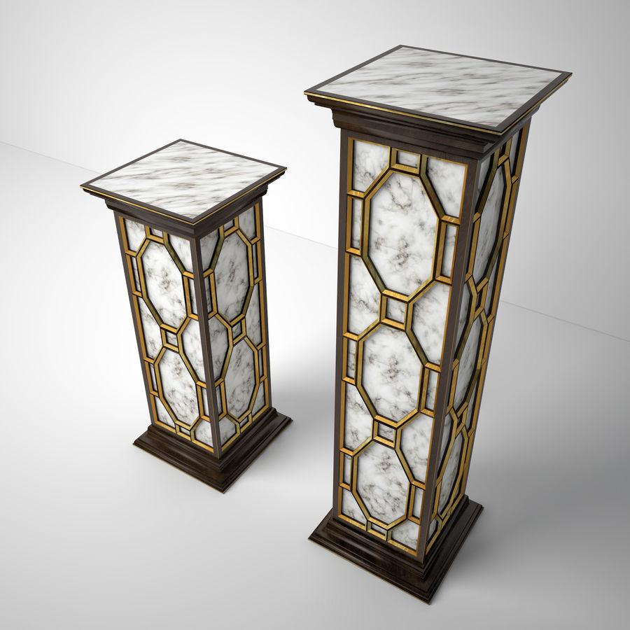 John-Richard Eglomise Pedestal royalty-free 3d model - Preview no. 4