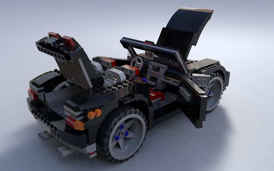Lego car royalty-free 3d model - Preview no. 8