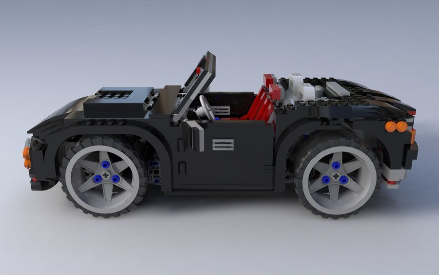Lego car royalty-free 3d model - Preview no. 5