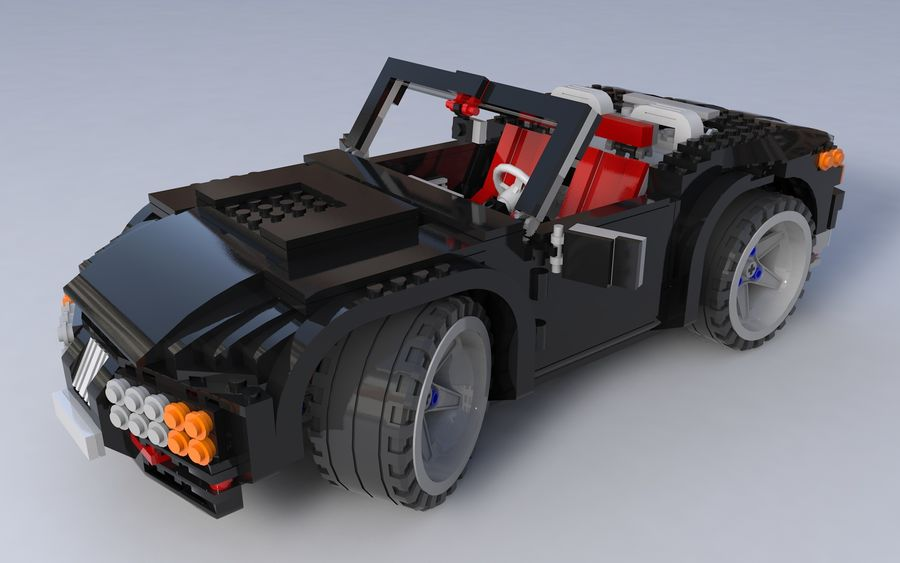 Lego car royalty-free 3d model - Preview no. 4