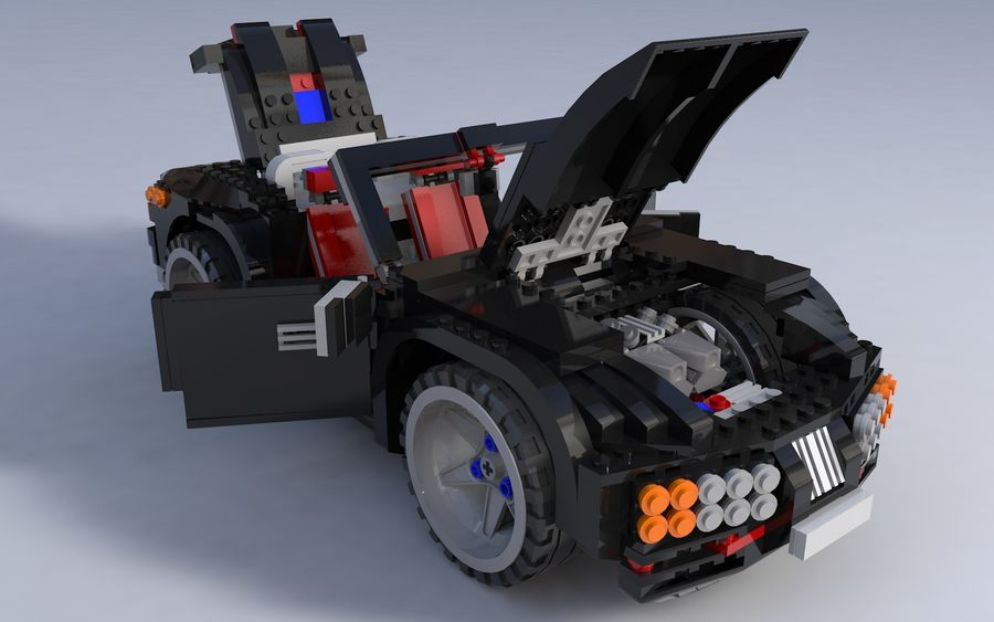 Lego car royalty-free 3d model - Preview no. 7