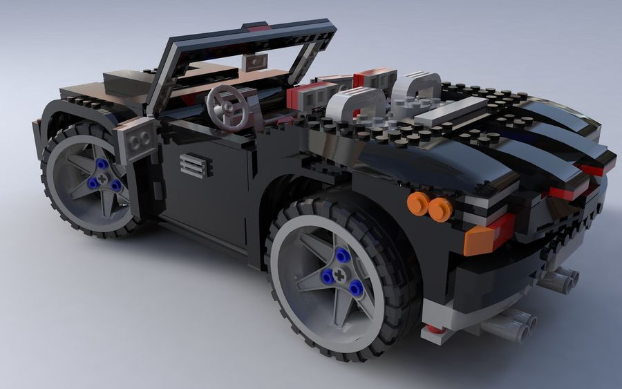 Lego car royalty-free 3d model - Preview no. 1
