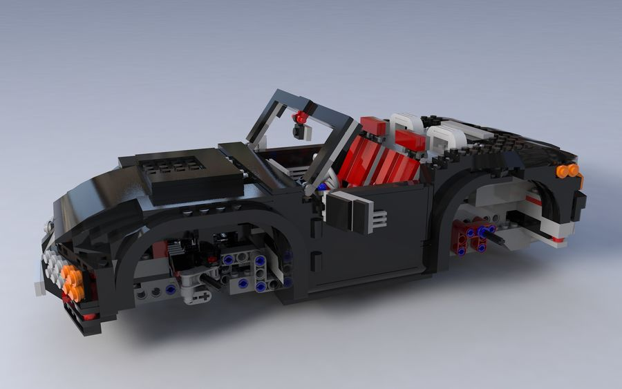 Lego car royalty-free 3d model - Preview no. 9