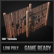 Wood Fence Kit 3d model