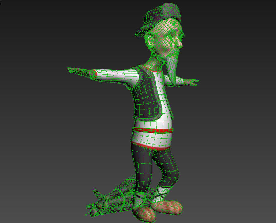 Velhote royalty-free 3d model - Preview no. 5