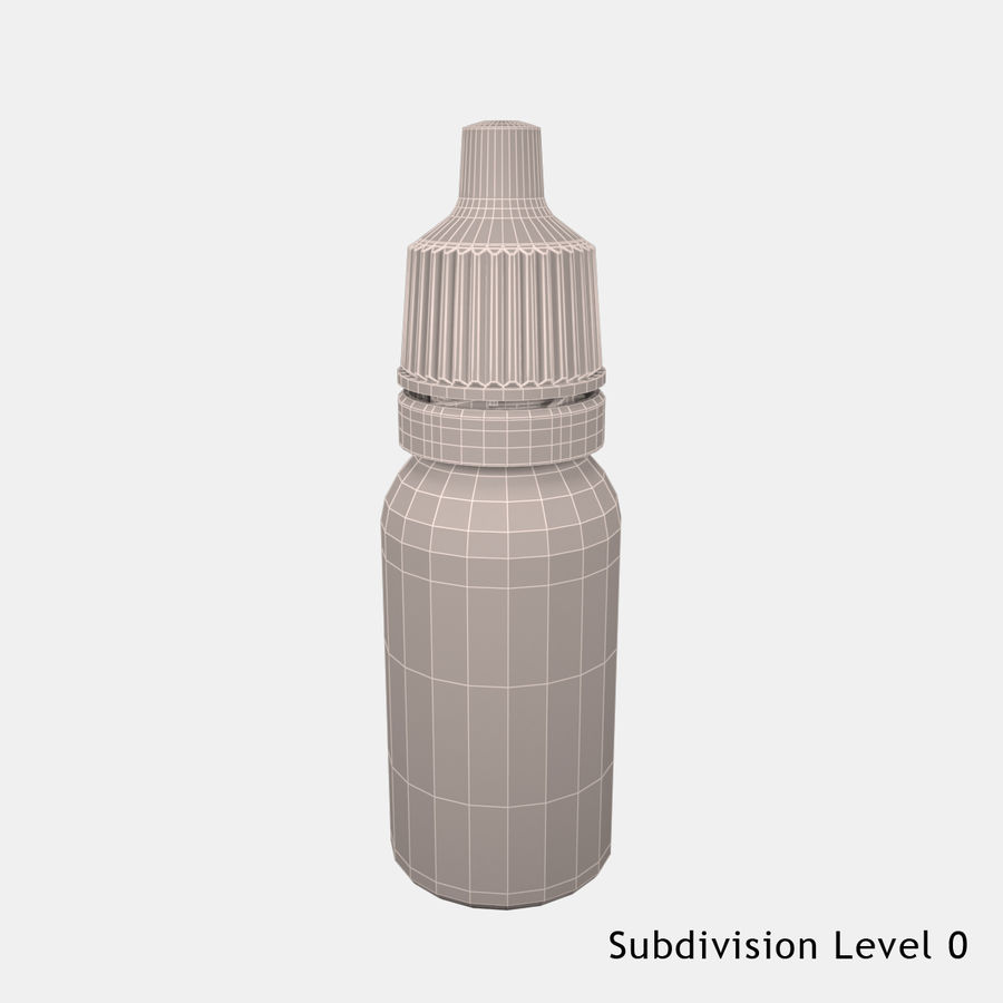 Flasche fallen lassen royalty-free 3d model - Preview no. 9