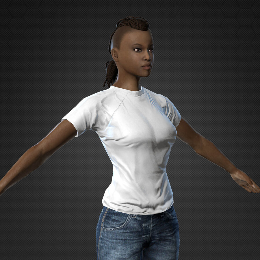 MMORPG(女性身体)的角色 royalty-free 3d model - Preview no. 9
