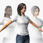 MMORPG için Karakter (Kadın Bedeni) 3d model