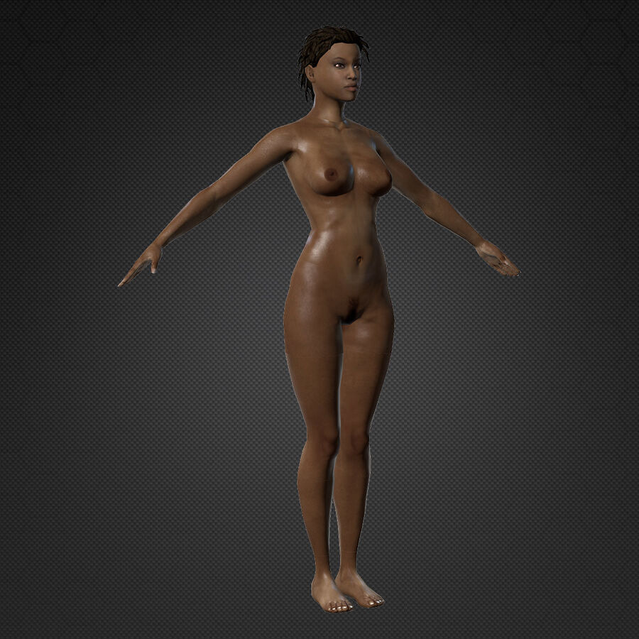 MMORPG(女性身体)的角色 royalty-free 3d model - Preview no. 7