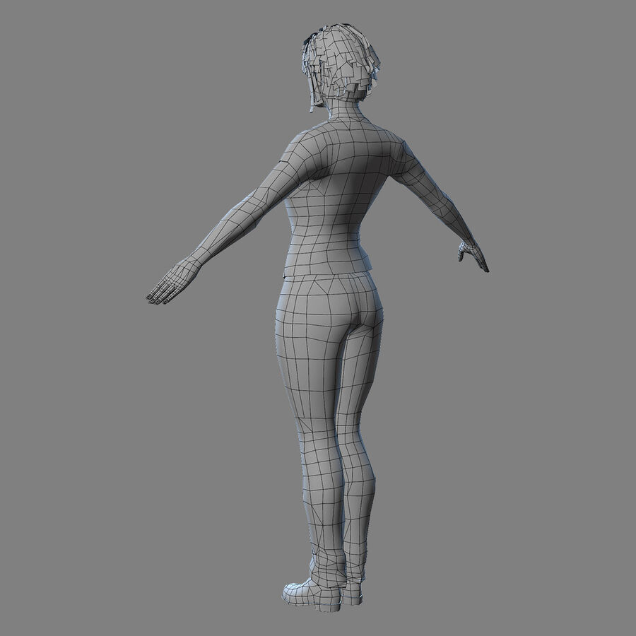 MMORPG(女性身体)的角色 royalty-free 3d model - Preview no. 20