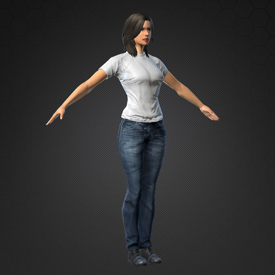 MMORPG(女性身体)的角色 royalty-free 3d model - Preview no. 2