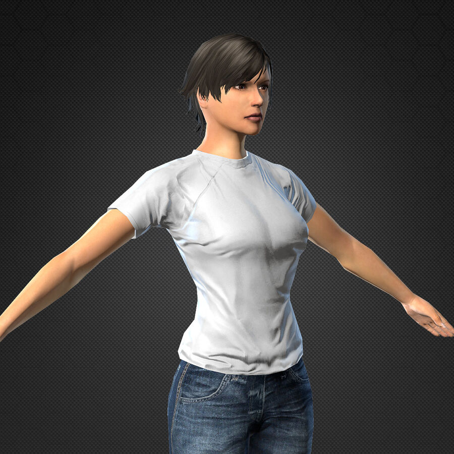 MMORPG(女性身体)的角色 royalty-free 3d model - Preview no. 11