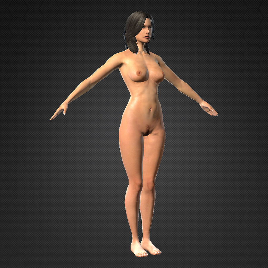 MMORPG(女性身体)的角色 royalty-free 3d model - Preview no. 5