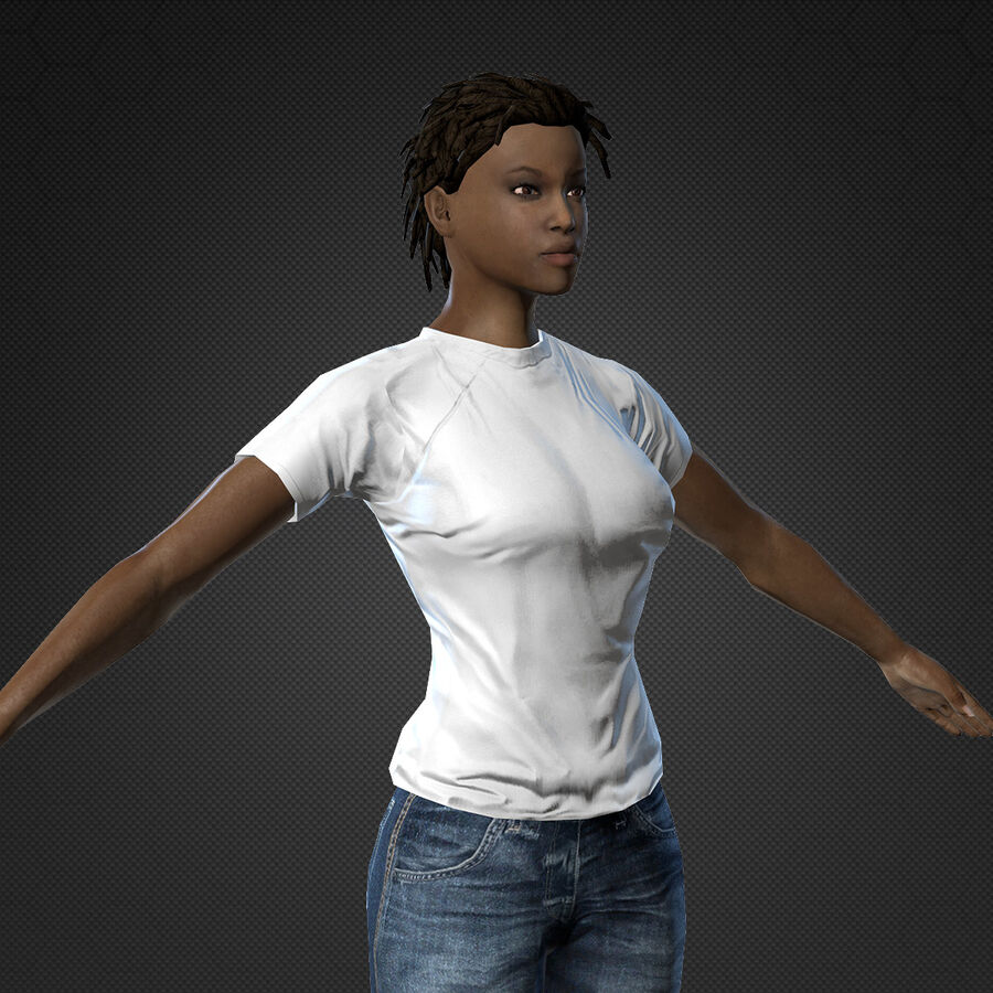 MMORPG(女性身体)的角色 royalty-free 3d model - Preview no. 8