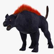 地狱犬毛皮索具 3d model
