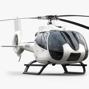 Helicóptero modelo 3d