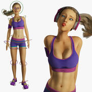 Fitness-Modell manipuliert 3d model