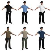 Офицер полиции LOD2 3d model