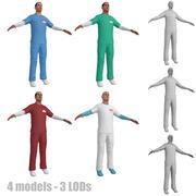 Pielęgniarka męska LODs 3d model