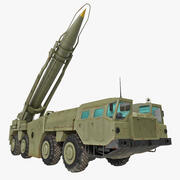 Wyrzutnia rakiet Scud MAZ-543 3d model
