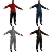 Martial Artists KF PACK 3d model