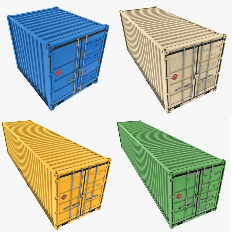 Collezione Mega Container royalty-free 3d model - Preview no. 2