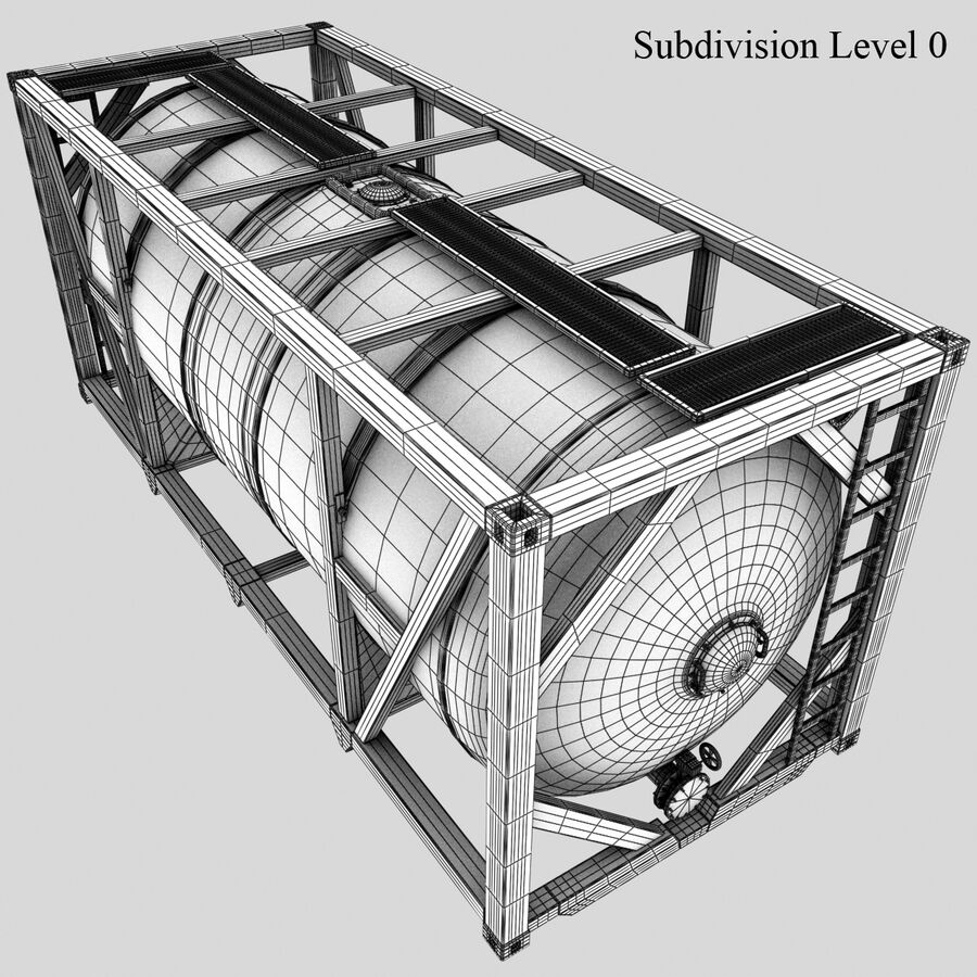 Collezione Mega Container royalty-free 3d model - Preview no. 36