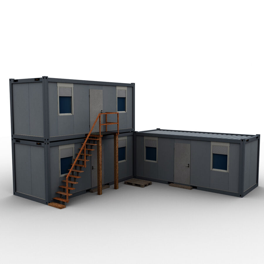 Collezione Mega Container royalty-free 3d model - Preview no. 94