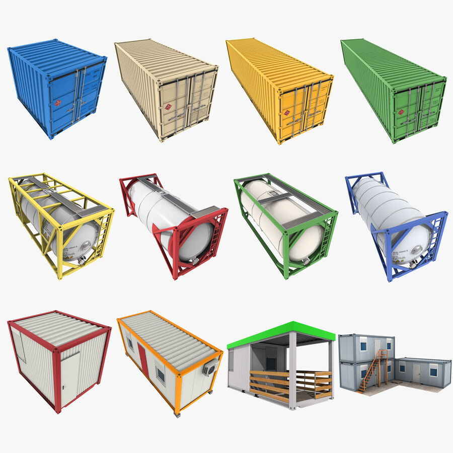 Collezione Mega Container royalty-free 3d model - Preview no. 1