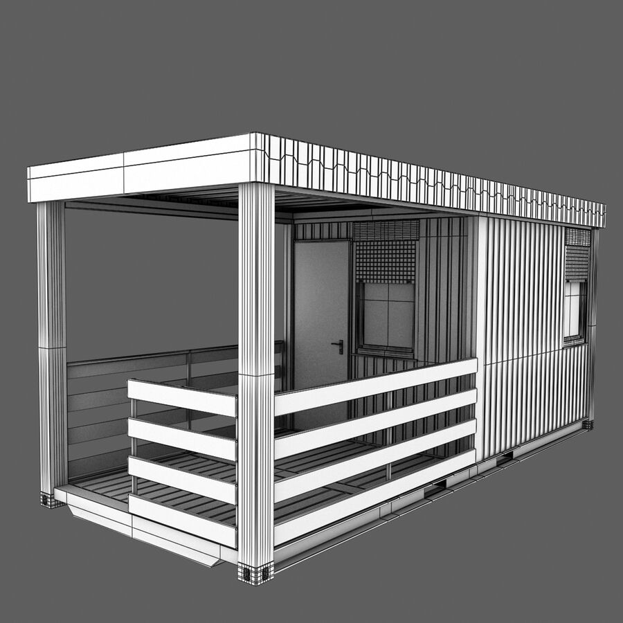 Collezione Mega Container royalty-free 3d model - Preview no. 91